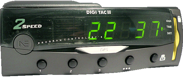 Tacógrafo digital - DIGI TAC OBC/Card 2V - Controles, display y tarjeta chip.