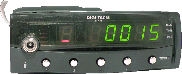 Tacógrafo digital - DIGI TAC RPM II - Controles y display