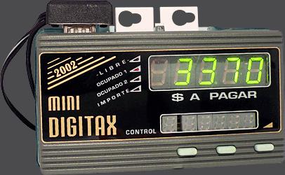 Taxímetro digital - DIGI TAX Mini - Display LCD e controles
